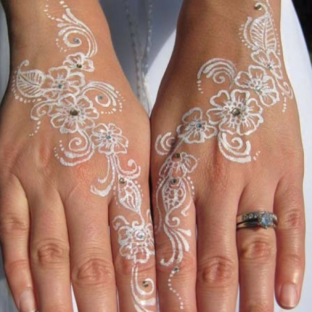 white ink henna tattoos i want pinterest beautiful