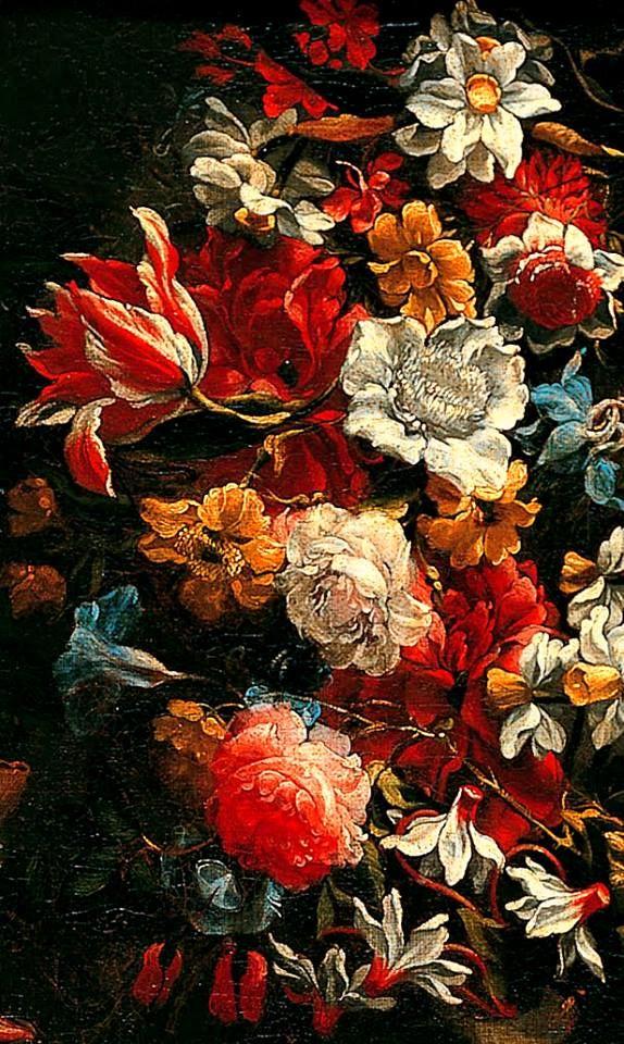Still Life with Flowers (details) 1650-60 // Juan de Arellano
