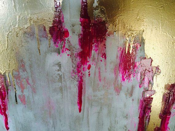Resumen oro grande lona de pintura arte de por AlexandraTheGallery