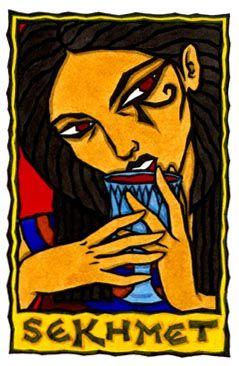 Sekhmet, Egyptian Goddess of Destruction and Healing by Thalia Took
