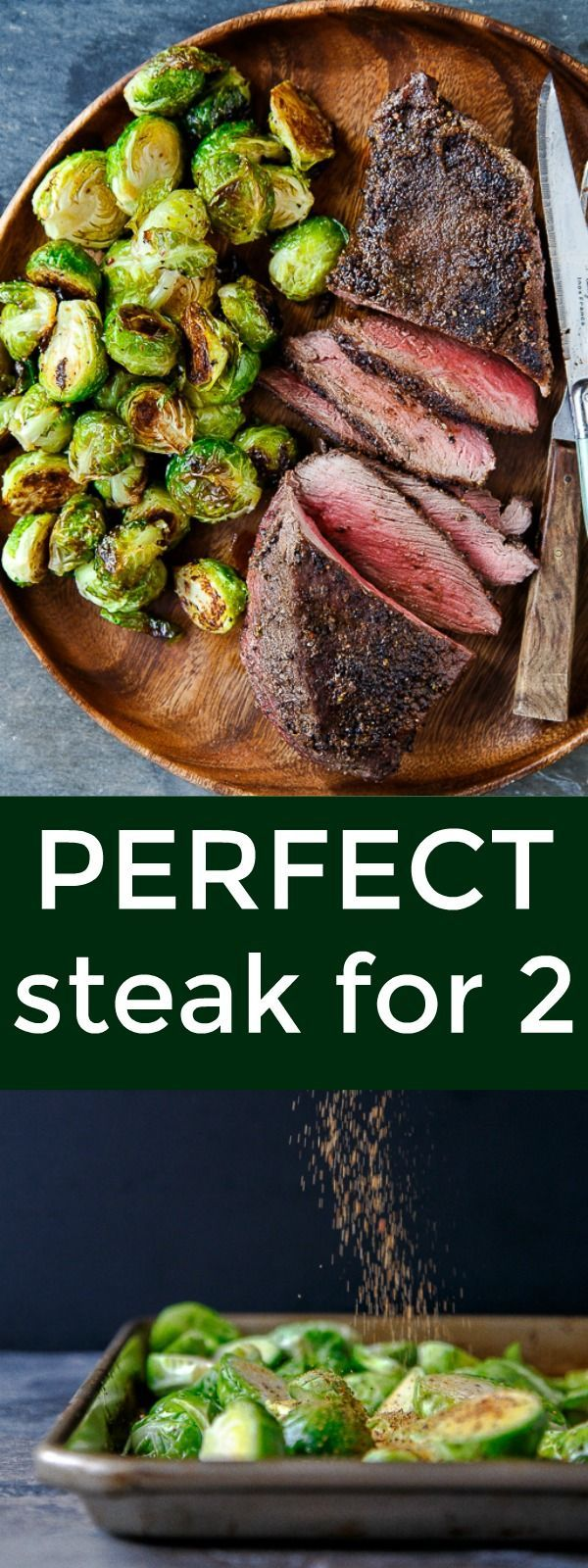 How to cook the perfect steak for 2 people! Steak night at home for date night! Valentine's Day perfects steaks for two. Romantic meals for two at home.