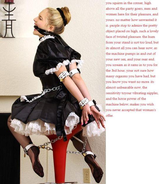 Sissy maid captions