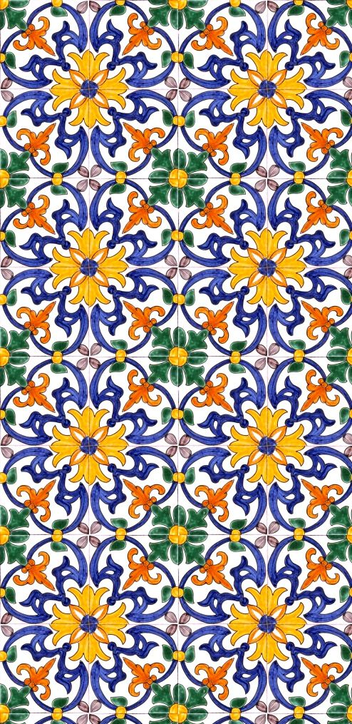 Mexican tile work
