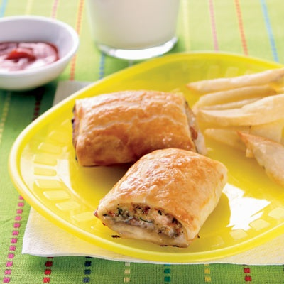 My most searched for recipe - sausage rolls (with chicken & lentils)