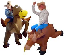 FANCY DRESS INFLATABLE 'WILD WEST' THEMED COSTUMES - COWBOY RODEO PARTY OUTFIT