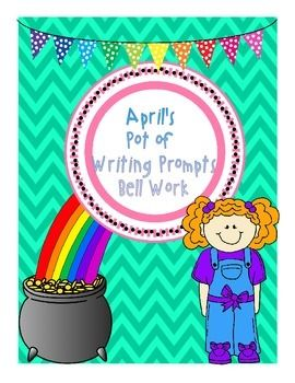 Here it is! April's Pot of Writing Prompts.   This no prep language bell work is an ideal way to start your morning. Included in this 31 page PDF file are 30 writing prompts for students to complete as bell work. Each sheet includes a checklist that reminds students to check for spelling, punctuation, incomplete sentences, a topic sentence and a concluding statement.   Watch out! May's Pot of Writing Prompts will be posted in mid - April.