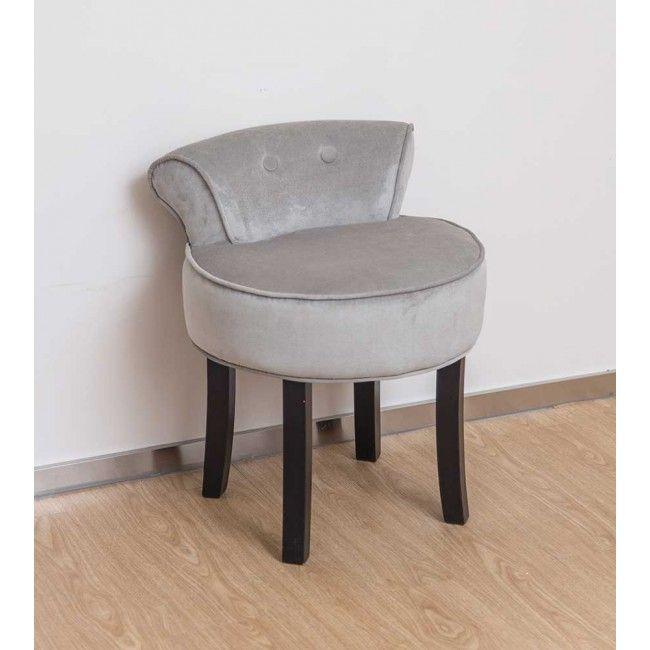 Vanity Stool In Grey With Black Legs Vanity Stool Dressing Table With Chair Dressing Table With Stool
