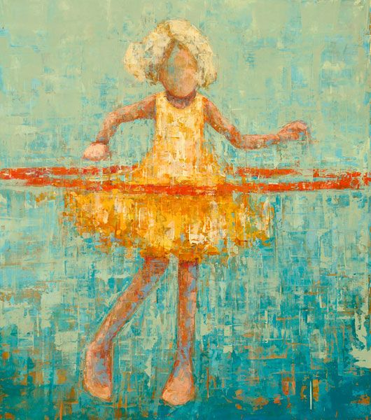 REBECCA KINKEAD: Hula#9, oil-on-canvas-45x40. Love this artist, I just read Oprah bought one of her paintings last year.