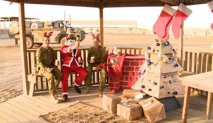 Season's Greetings from Aussie troops serving in Iraq and Afghanistan