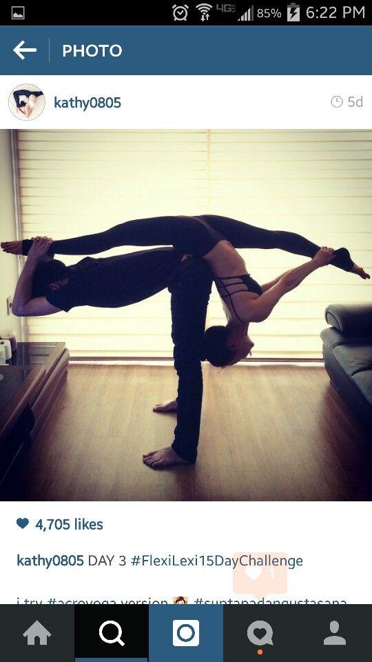 Acro yoga. Partner yoga.