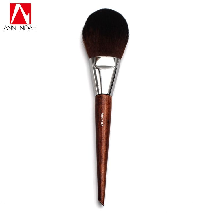 1pcs Professional Makeup Tool Long Wood Handle Soft Synthetic Hair Flat Tapered Tip 128 Flexibility Precision Powder Brushes