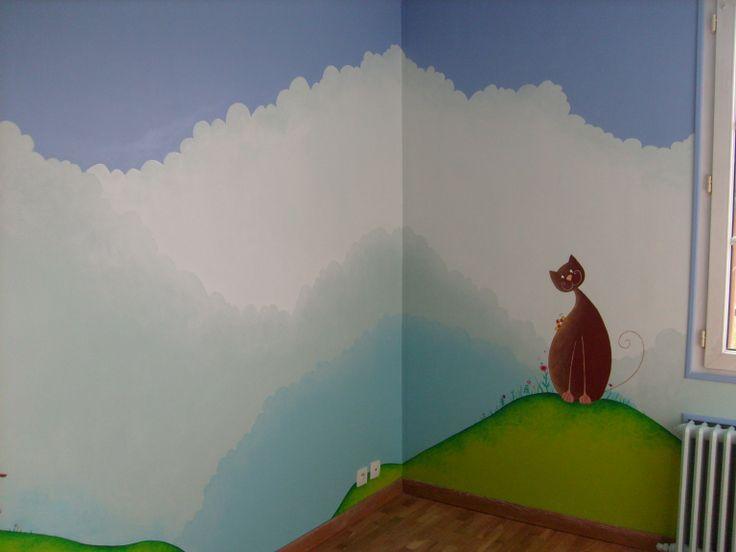 1000 images about fresque et peinture murale dans les chambres d 39 enfant on pinterest child - Fresque murale chambre fille ...