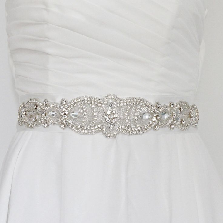 bridal sash belt, art deco sash belt, art deco wedding, jeweled wedding belt, jeweled sash, rhinestone belt, belt for dress, wedding dress by CariniAccessoires on Etsy https://www.etsy.com/listing/280113686/bridal-sash-belt-art-deco-sash-belt-art