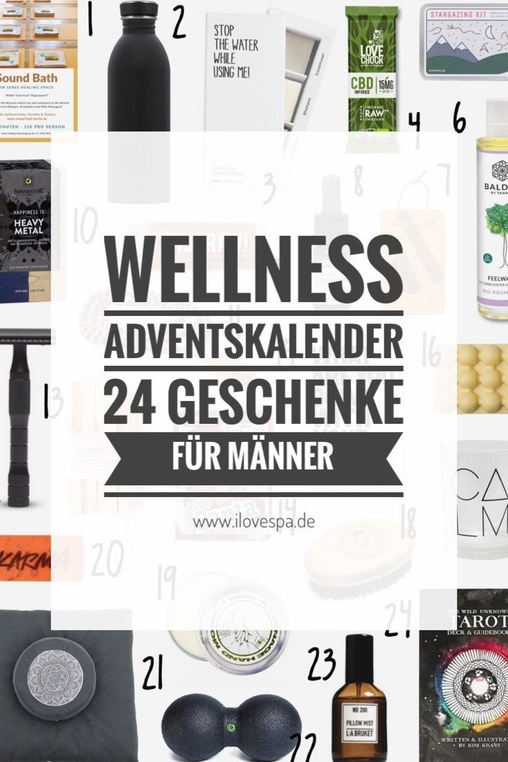 Wellness Adventskalender Männer in 2020 Wellness