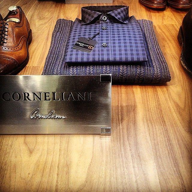 Blue Checked Shirt & Woolen Rollneck