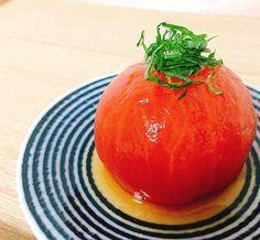 easy recipe : tomato in Japanese DASHI & soy sauce おだしトマト☆ だし醤油のつけ汁を作って漬けておくだけの、簡単料理!