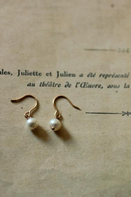 Pearl K18 Gold Earrings #2 - IRRE