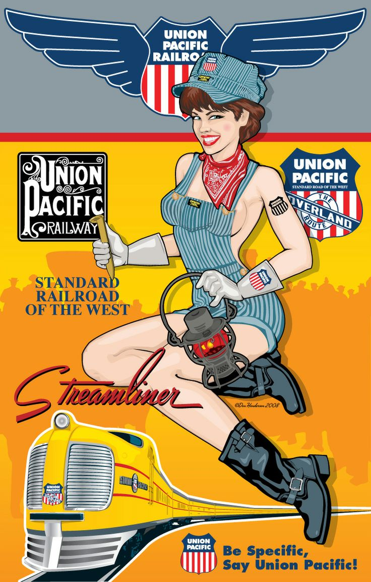 Union Pacific Pin Up Art