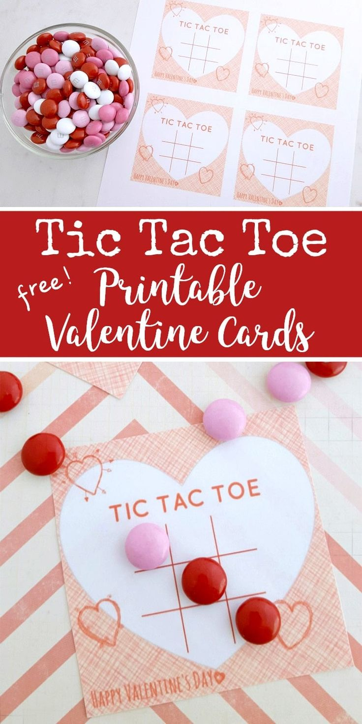 Free Printable Tic Tac Toe Valentine's Day Cards