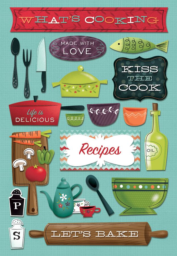 Karen Foster Design - Cardstock Stickers - What's Cooking at Scrapbook.com