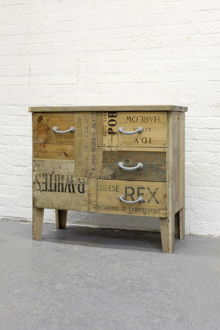 How to make a chest of drawers from pallets woodworking projects plans Wooden crates furniture
