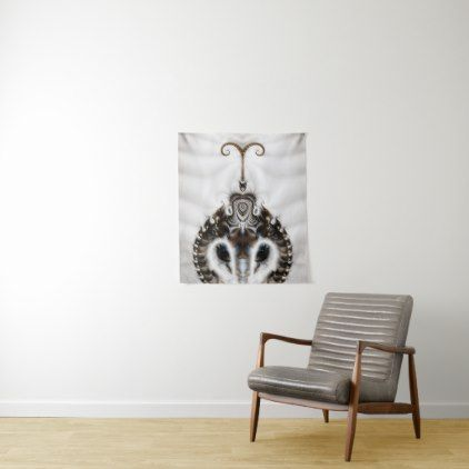 Royal Feline - A Fractal Design Tapestry - artists unique special customize presents