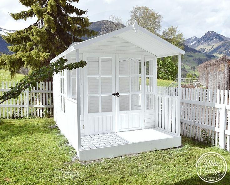 26 best gartenpavillon selber bauen aus weiden und paletten images on pinterest pallet wood - Gartenhaus shabby chic ...