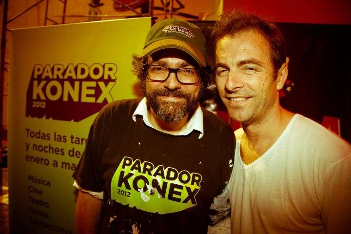 Liniers & Kevin Johansen pasandola bien en Parador Konex