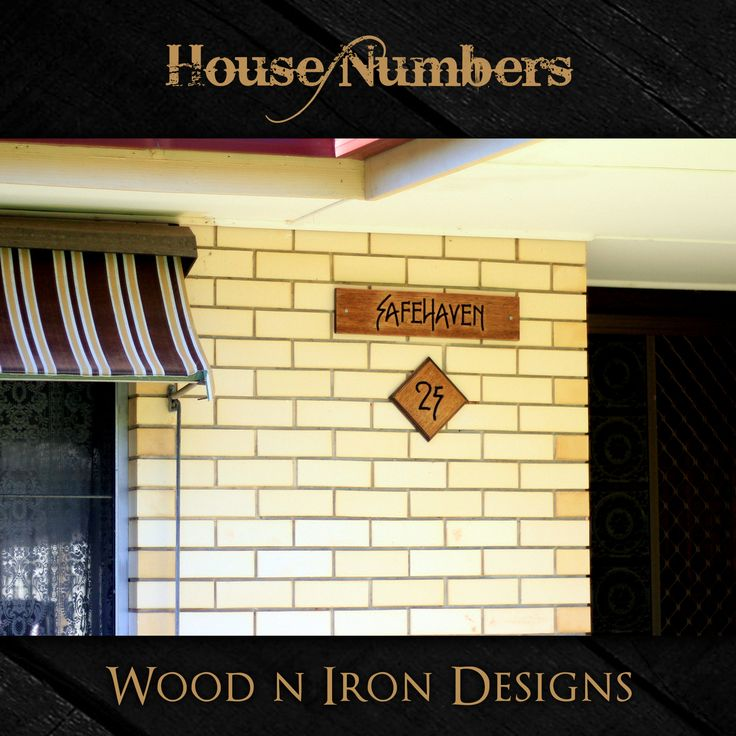 Tasmanian Oak house number sign