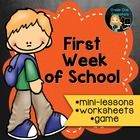 Back to School activities for First Grade / Grade One / Kindergarten.  These are great activities to start on the first day of school and to finish...