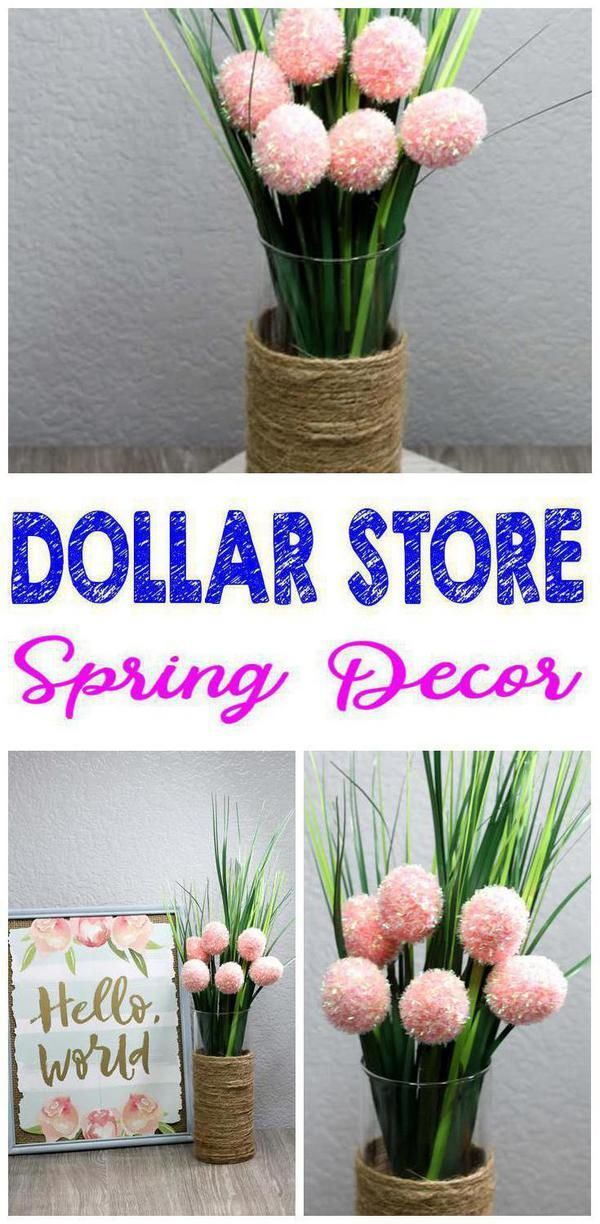 Dollar Store Spring Decor – Easy DIY Crafts – How To Make Spring Flower Arrangement – Simple Decor Ideas For The Home – Dollar Tree Hacks