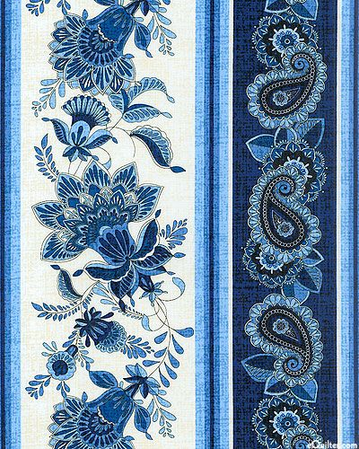 eQuilter Caprice - Country Paisley Stripe - Natural