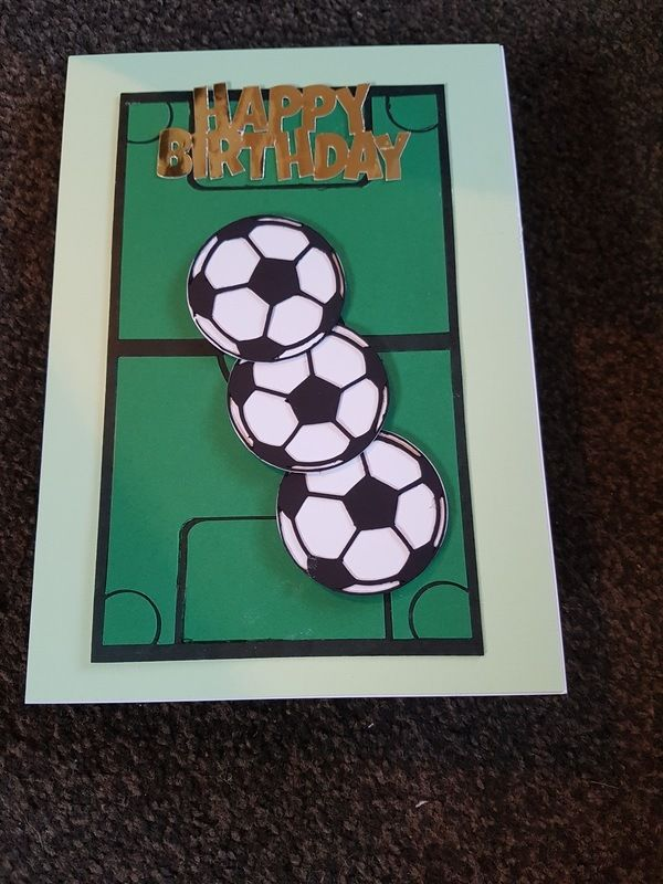 Buy Football birthday card. Handmade by creative people crafting through DISABILITIES, CHRONIC ILLNESS or are CARERS