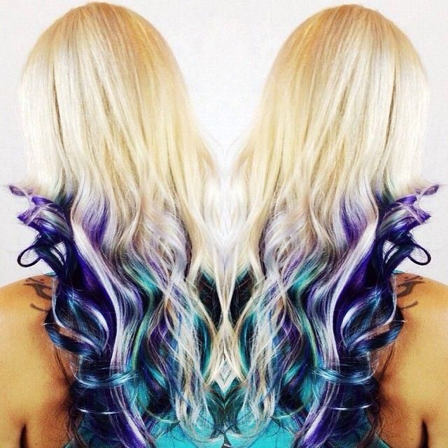 #blonde #peacock #color. Gorgeous for you blondes out there. That want something different. If I was a blond for sure!!!!