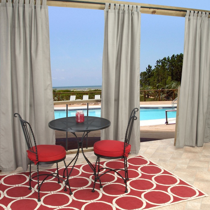 pi curtains plated xx outdoor with sand nickel dfohome regency n curtain fabric grommet currsgrs sunbrella grommets