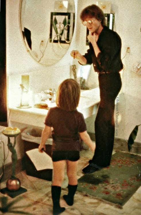 "Happy Birthday John and Sean!    ""John giving Sean shaving tips in their apartmentat the Dakota building in New York City, September 1980""  Source: LIFE Remembering John Lennon 25 Years Later"