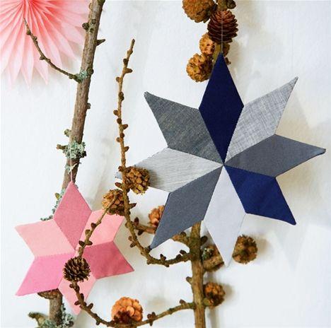 Julepatchwork: Flot stjerneophæng