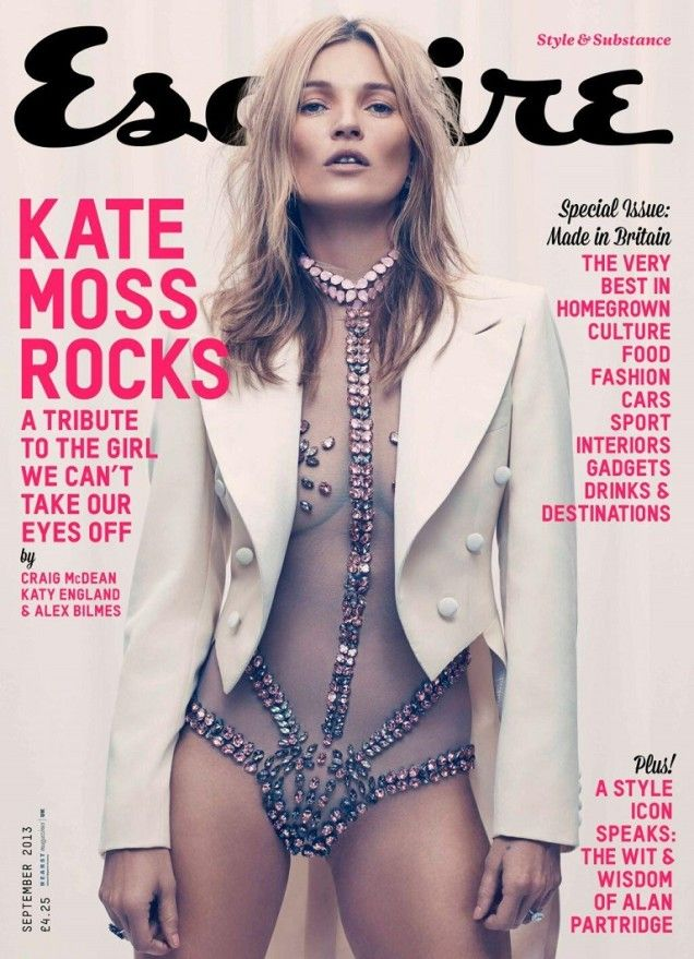 September Issue: July 2013, Fashion Models, Craig Mcdean, Fashion Marketing, Esquir Magazines, Fashion Magazines, Magazines Covers, Esquir Uk, Kate Moss