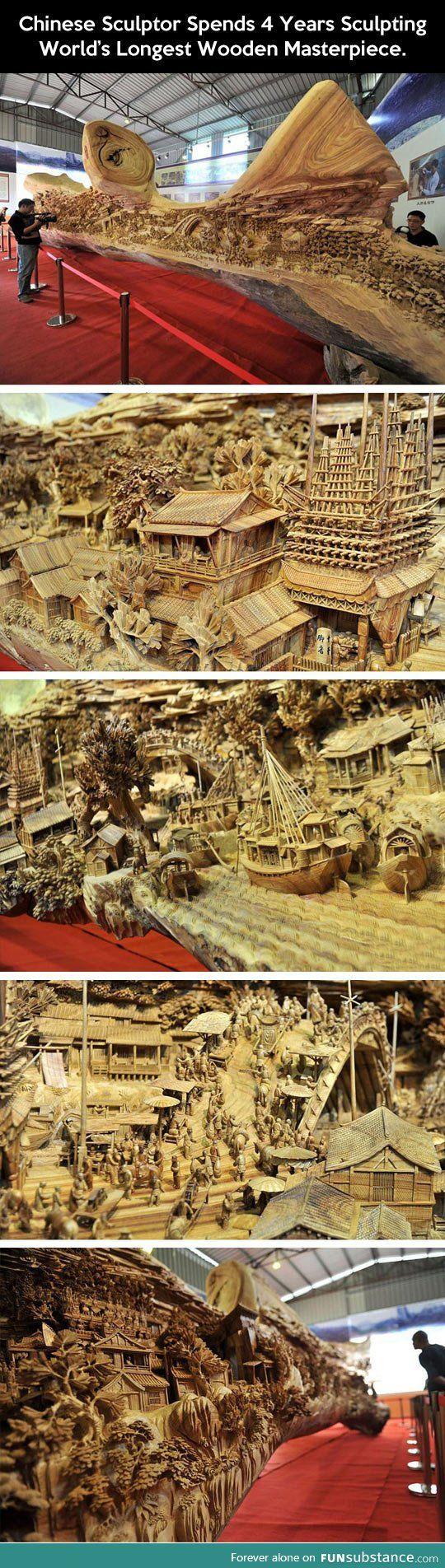 World's longest wooden masterpiece.