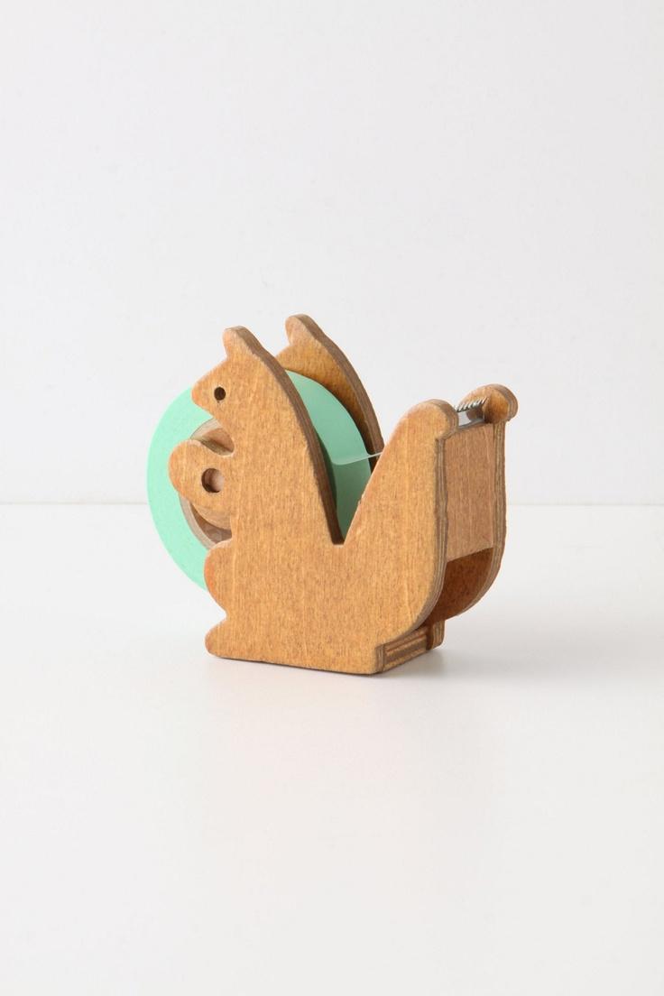 Squirreled Away Tape Dispenser - Anthropologie.com