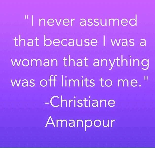 Christiane Amanpour is a British-Iranian journalist and television host. Amanpour is the Chief International Correspondent for CNN and host of CNN International's nightly interview program Amanpour.  Nationality: American, British, Bosnian, Iranian