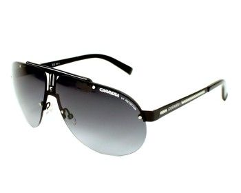 Carrera sunglasses for men, Carrera 34 00390 - 65. This pair of sunglasses is made in Metal Mat Black with Gradient grey lenses. UV filter / UV protection: 3.