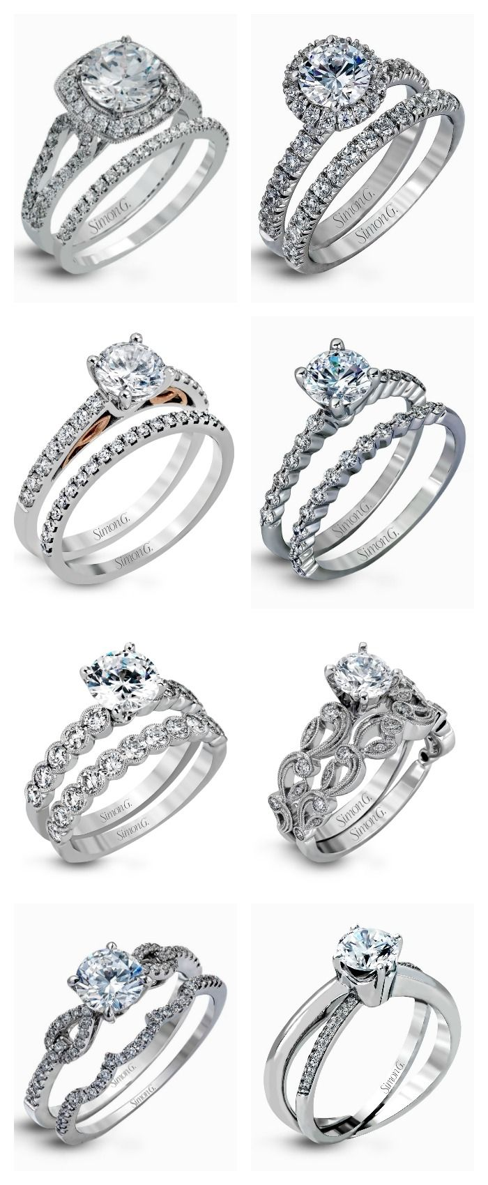 Bespoken #wedding ring Sets by Simon G.