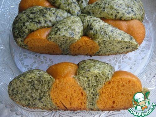 """Хлеб """"Томат-шпинат"""" в мультиварке"""
