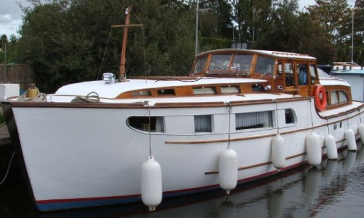A unique E C Landamore River Cruiser 37 foot commissioned in 1962 - fully restored and refitted 2013.
