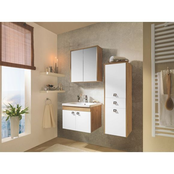 Badezimmer in Weiß & Eichefarben: natürliches Design von XORA!