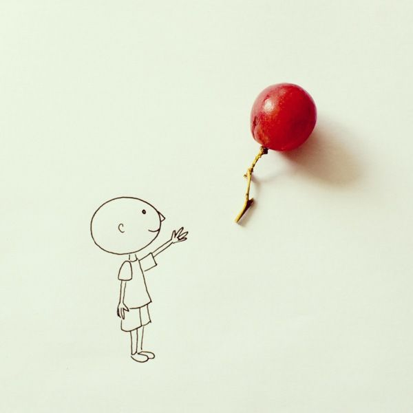 Inspiration is everywhere--take a look at Javier Perez's simple line drawings interacting with ordinary objects.