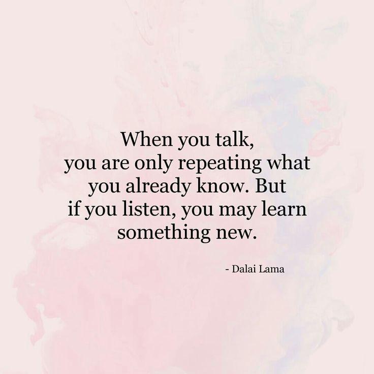 When you talk....