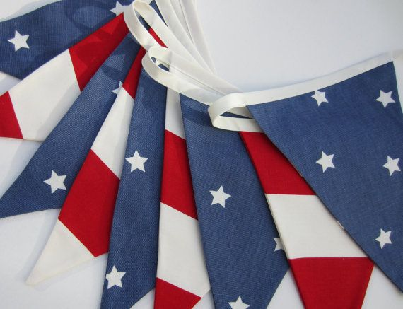 Stars and Stripes Bunting American Flag by AllTheTrimmingsUK