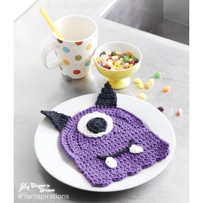 Scary Gary Crochet Dishcloth, perfect for Halloween! Say hello your little friend, Scary Gary! This is a fun project to make with Lily® Sugar'n Cream® for Halloween and beyond! Doing dishes has never been more fun. Pattern More Patterns Like This!